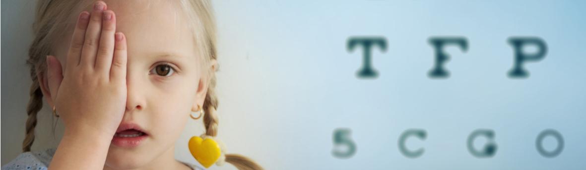 Heeft mijn kind een lui oog? Symptomen van een lui oog. Onderzoek bij vermoeden lui oog. Behandeling lui oog kind